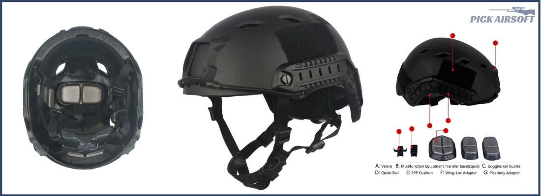 LOOGU-Fast-BJ-Base-Jump-Military-Helmet